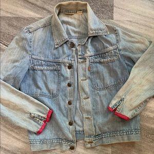EUC Rare Vintage Levi's Upcycled Jean Jacket 🧡